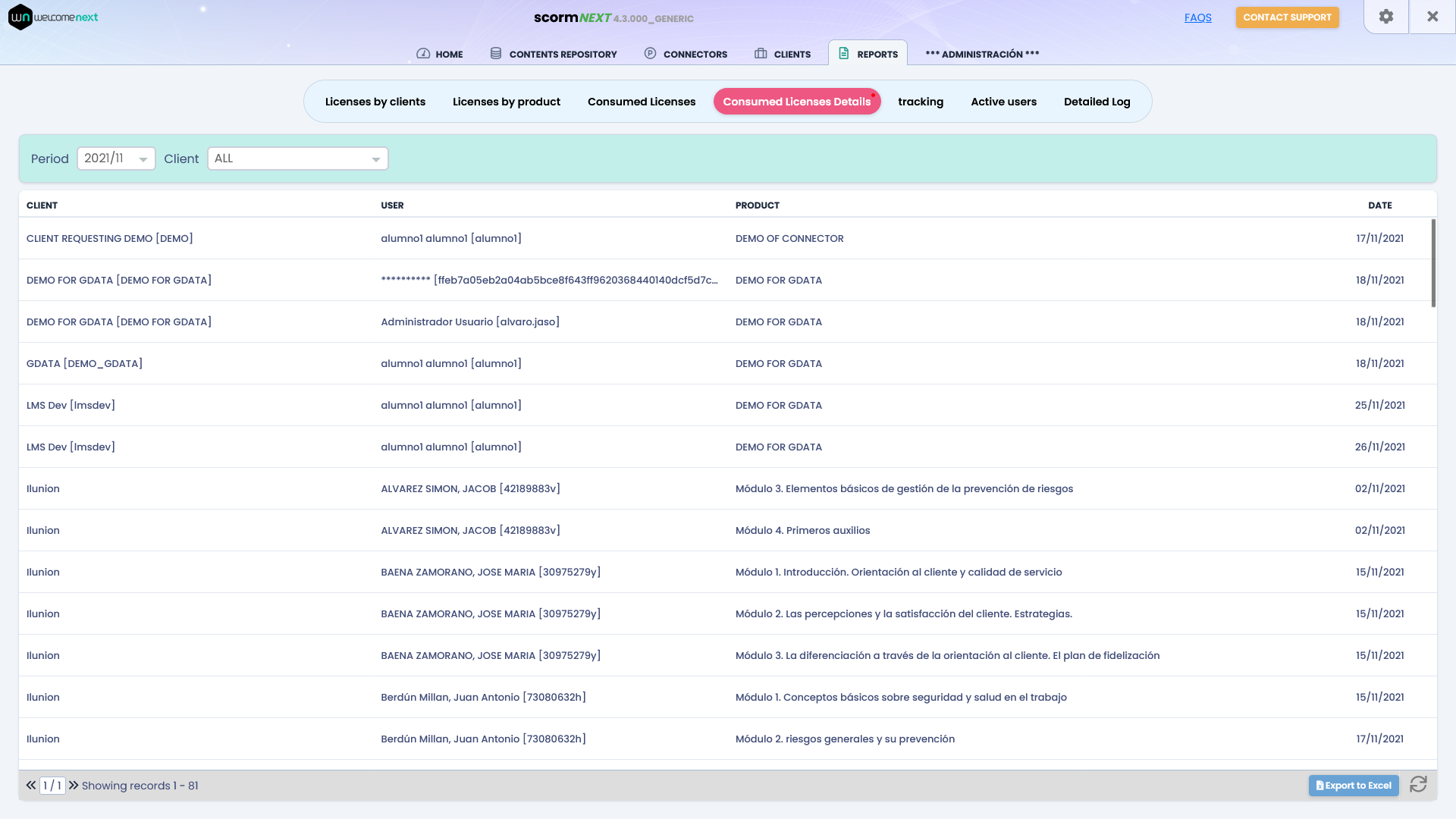 scormNEXT scorm cloud reports and tracking